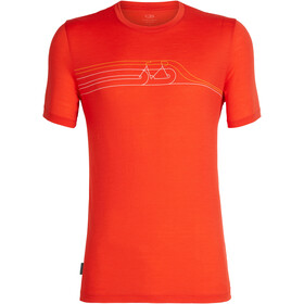 Icebreaker Tech Lite Cadence Pulse SS Crewe Shirt Herr chili red